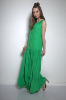 Длинные платья, платья в пол PUR PUR 01-569 зеленый фото 1