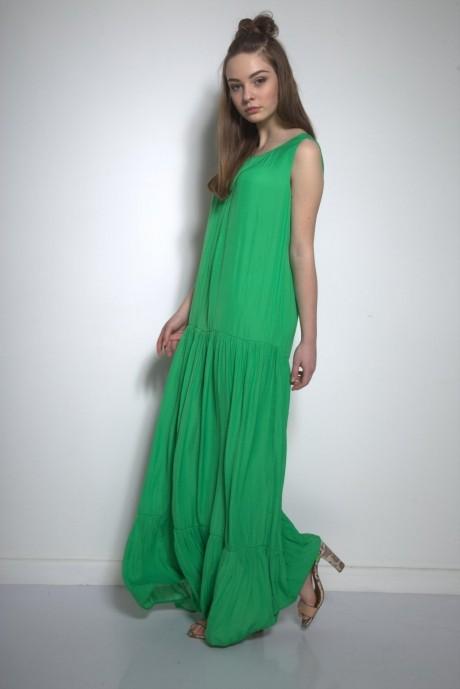 Длинные платья, платья в пол PUR PUR 01-569 зеленый