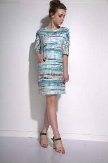 Повседневные платья PUR PUR 01-573 голубой орнамент фото 1