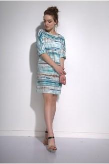 Повседневные платья PUR PUR 01-573 голубой орнамент фото 2