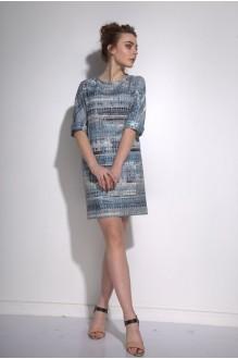 Повседневные платья PUR PUR 01-573 синий орнамент фото 1