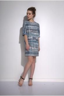 Повседневные платья PUR PUR 01-573 синий орнамент фото 2