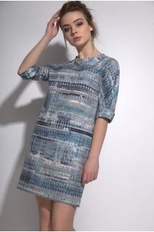 Повседневные платья PUR PUR 01-573 синий орнамент фото 3
