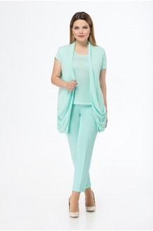 БелЭкспози 1131 бирюзовый жилет+блузка