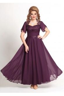 Mira Fashion 4146 -2 бордо/шифон рукав