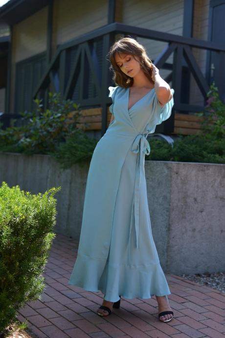 Длинные платья, платья в пол PUR PUR 01-617 голубой