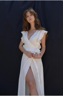 Длинные платья PUR PUR 01-617 белый фото 2