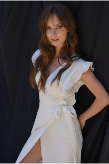 Длинные платья PUR PUR 01-617 белый фото 4