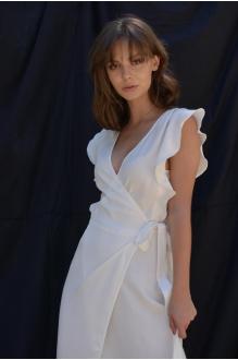 Длинные платья, платья в пол PUR PUR 01-617 белый фото 5