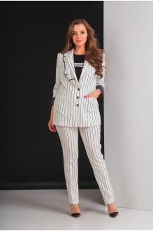 Брючные костюмы /комплекты Elletto 5017 молочный фото 1
