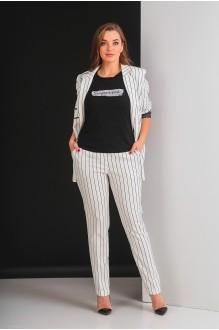 Брючные костюмы /комплекты Elletto 5017 молочный фото 2