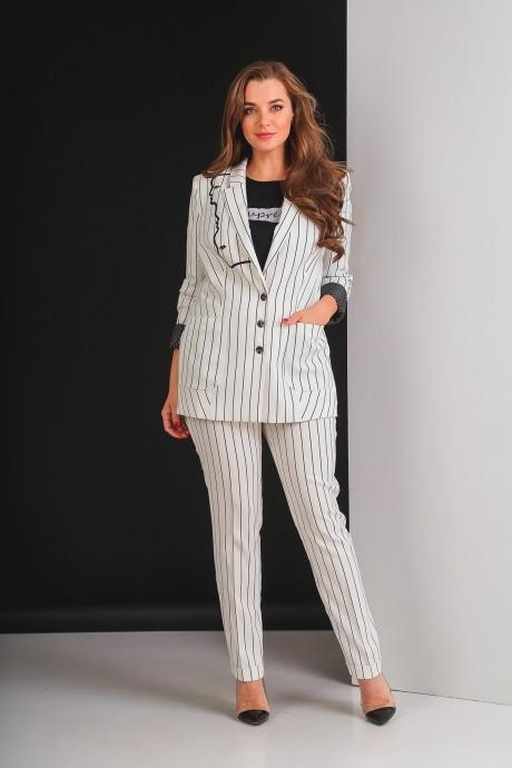 Брючные костюмы /комплекты Elletto 5017 молочный
