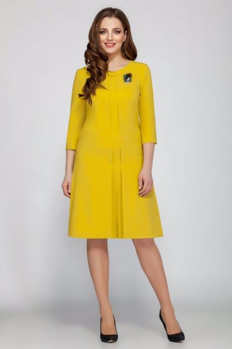 Повседневные платья Beautiful&Free 1403 горчица