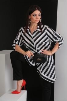 Мода-Юрс 2413 черная крупная полоска