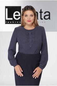 LeNata 11922 синяя в белые снежинки