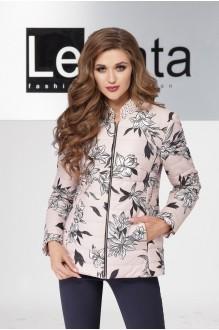 LeNata 11869 чёрные цветы но розовом фоне