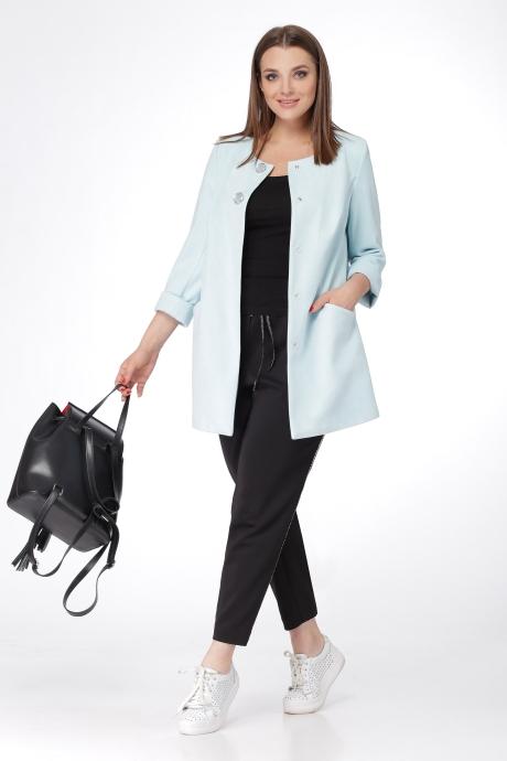 Брючные костюмы /комплекты Deluiz N 150 черный с голубым
