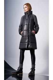 Пальто DiLiaFashion 0124 -1 серый фото 1