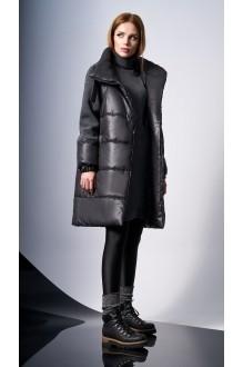 Пальто DiLiaFashion 0124 -1 серый фото 2