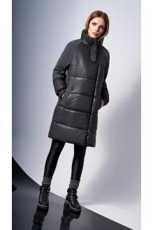 Пальто DiLiaFashion 0124 -1 серый фото 3