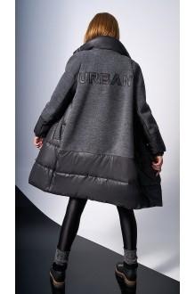 Пальто DiLiaFashion 0124 -1 серый фото 4