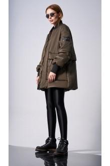 Куртки DiLiaFashion 0128 -1 хаки фото 2