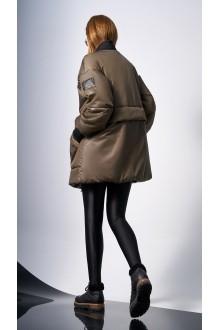 Куртки DiLiaFashion 0128 -1 хаки фото 3