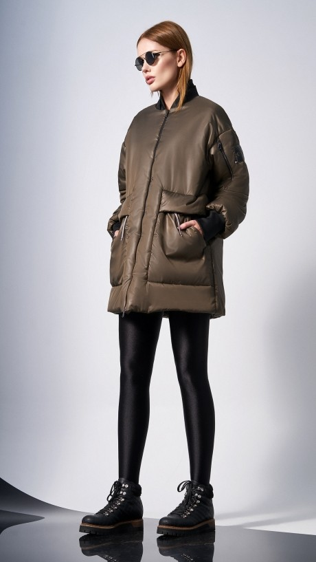 Куртки DiLiaFashion 0128 -1 хаки