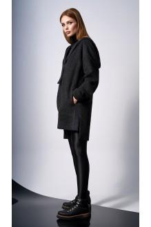 Пальто DiLiaFashion 0132 -1 чёрный фото 4