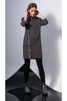 Повседневные платья DiLiaFashion 0131 -2 серо-коричневый фото 2