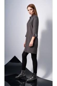 Повседневные платья DiLiaFashion 0131 -2 серо-коричневый фото 4