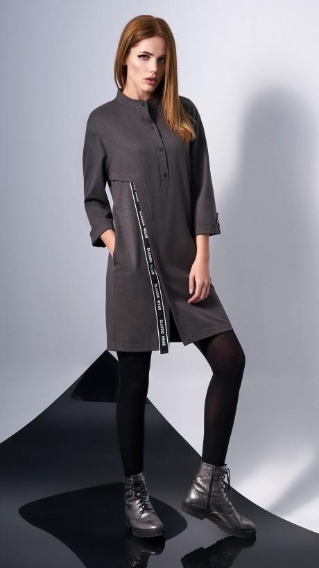Повседневные платья DiLiaFashion 0131 -2 серо-коричневый
