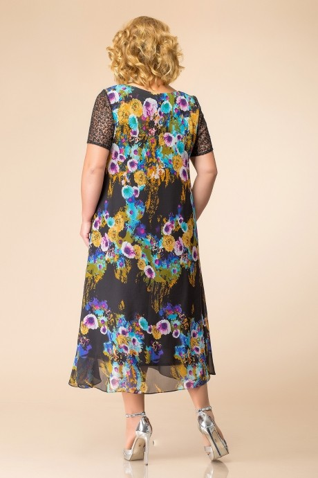 Romanovich Style 1-1600 черный в цветы