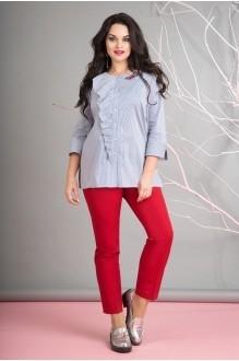 Лилиана 656В полоска/красный