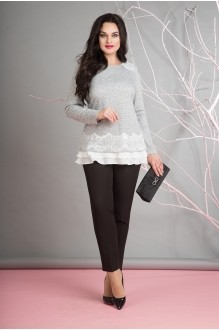 Лилиана 660В серый/молоко/черный