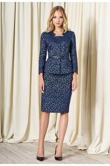 Bazalini 3275 юбка синий с серым (хамелеон)