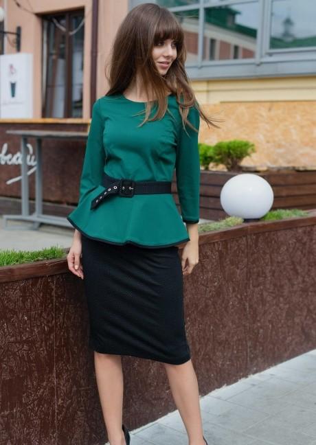 Юбочные костюмы /комплекты PUR PUR 01-539 зеленый