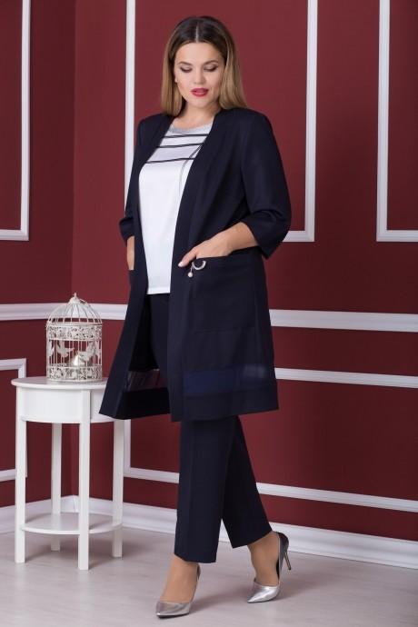 Брючные костюмы /комплекты Надин-Н 1537 темно-синий