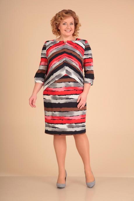Повседневные платья VIOLA STYLE 0784 коричневый