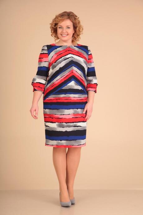 Повседневные платья VIOLA STYLE 0784 синий