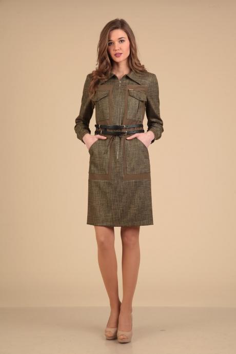 Повседневные платья VIOLA STYLE 0775 коричневый