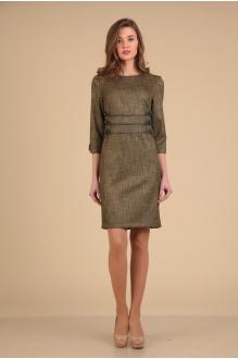 Повседневные платья VIOLA STYLE 0776 коричневый фото 1