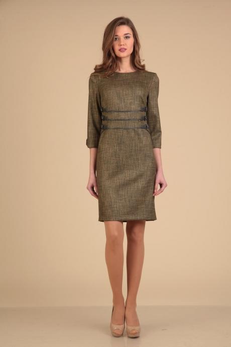 Повседневные платья VIOLA STYLE 0776 коричневый