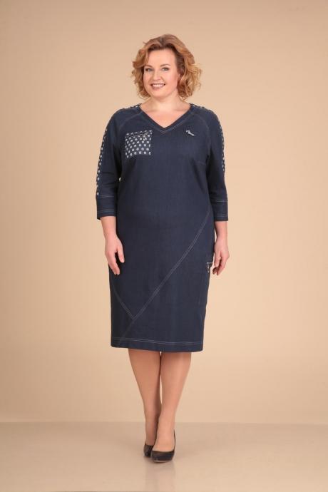 Повседневные платья VIOLA STYLE 0758 темно-синий