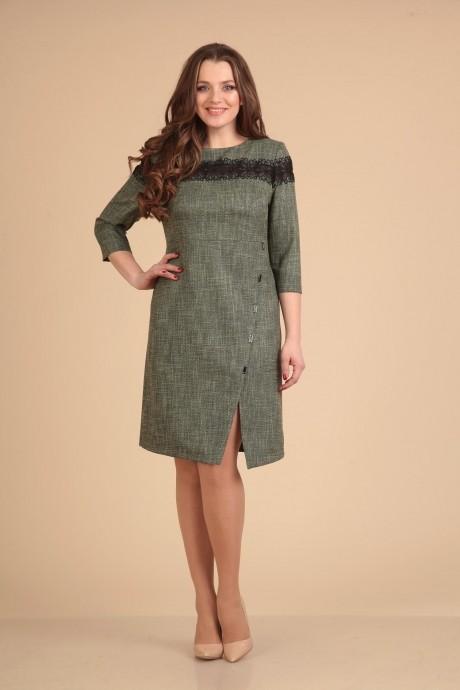 Повседневные платья VIOLA STYLE 0765 зеленый