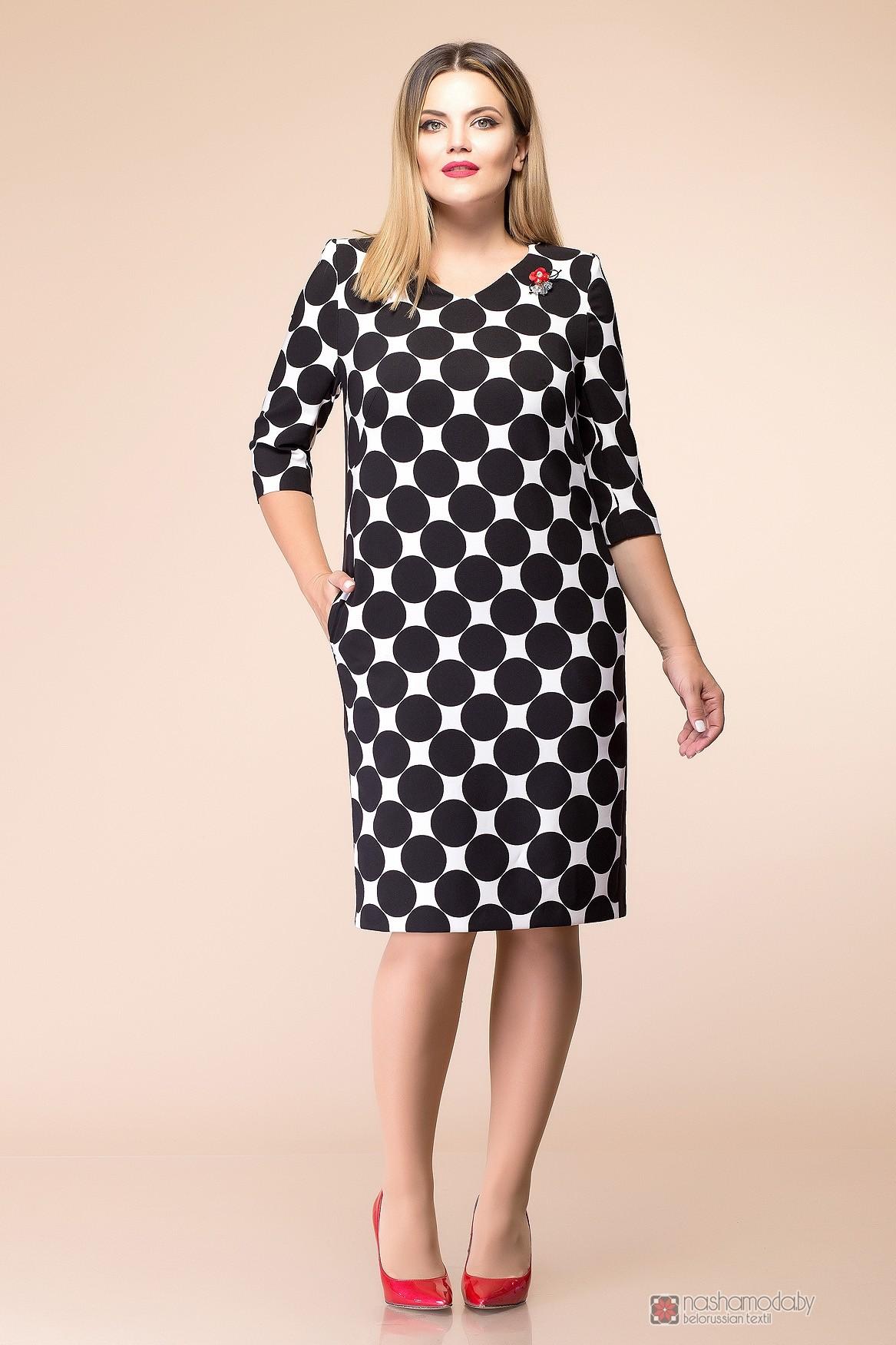 18a2949e570 Повседневные платья Romanovich Style 1-1686 черно-белый