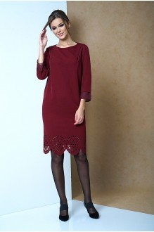Повседневные платья Fantazia Mod 3262 бордо фото 2