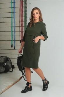 Повседневные платья VIOLA STYLE 0789 зеленый фото 3