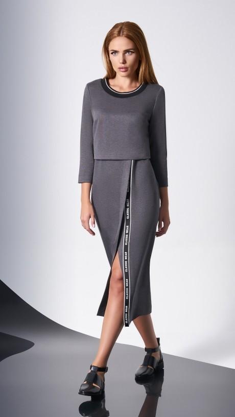 Повседневные платья DiLiaFashion 0139 -2 серый