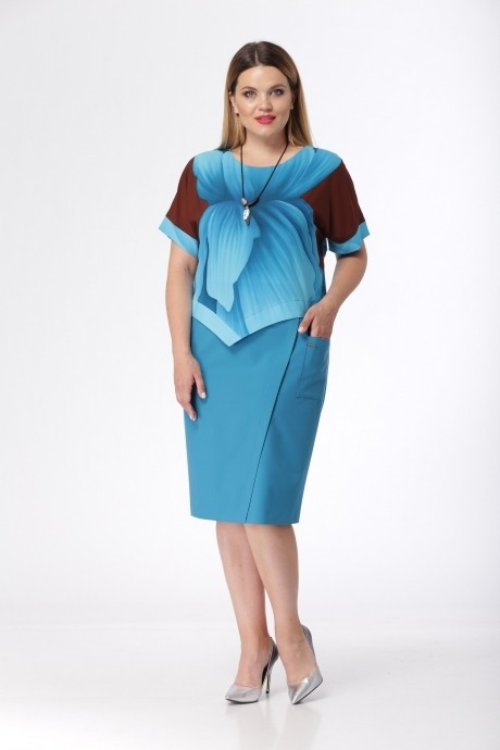 Летние платья *Распродажа Карина Делюкс 235 цветы